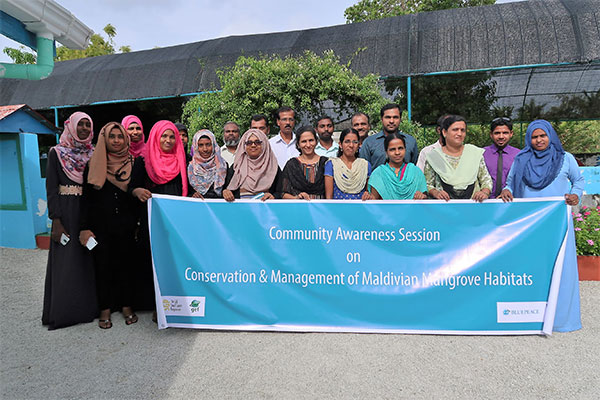 Community awareness session at Haa Dhaalu Neykurendhoo